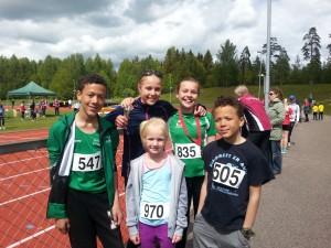 Emil, Dina, Lotta, Nora og Even. Aurora var ikke tilstede da bildet ble tatt